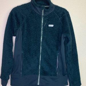 Mountain Hardwear polartec teal zip up jacket